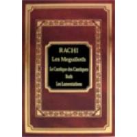 Rachi- Les Meguiloth-cantique des cantiques, Ruth, Lamentation